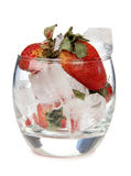 Strawberries ice glass Royalty Free Stock Photos