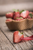 Strawberries in icecream cup Royalty Free Stock Photos