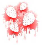 Strawberries illustration in red isolated Royalty Free Stock Photos
