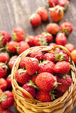 Strawberries In A Basket Stock Photography