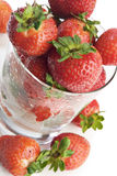 Strawberries In A Glass Royalty Free Stock Image