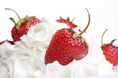 Strawberries In Cream Stock Image