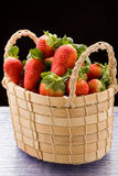 Strawberries inside a basket Royalty Free Stock Images