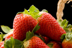 Strawberries inside a basket Royalty Free Stock Image