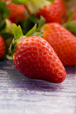 Strawberries inside a basket Royalty Free Stock Photo