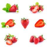 Strawberries isolate Stock Photo