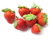 Strawberries-Isolated Royalty Free Stock Photography