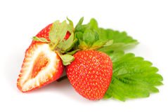 Strawberries isolated Stock Photos