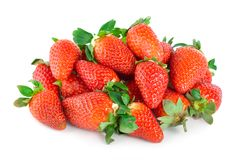 Strawberries isolated Stock Photography