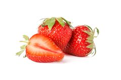 Free Strawberries Isolated On White Background Stock Photography - 148932972
