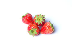 Strawberries. Isolated over white background Stock Image