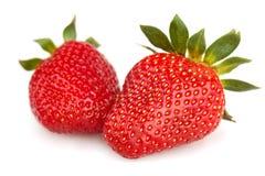 Strawberries isolated on white Stock Photos