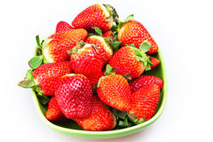 strawberries isolated on white Stock Photography