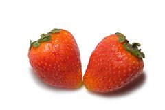 Strawberries isolated on white. Background with clipping path Royalty Free Stock Images