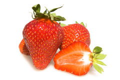 Strawberries Isolated On White Background Stock Photos