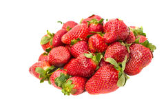 Strawberries isolated on white background Royalty Free Stock Photography