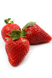 Strawberries isolated on white background Royalty Free Stock Photos