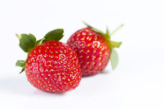 Strawberries in isolated white background Stock Photos