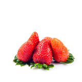 Strawberries isolated on white background fruits berries Stock Photo