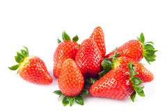 Strawberries isolated on white background fruits berries Stock Photography