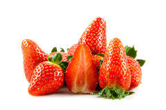 Strawberries isolated on white background vegetable helthy food Royalty Free Stock Images