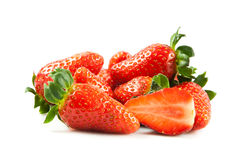 Strawberries isolated on white background vegetable helthy food fruits Stock Photo