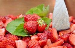 Strawberries for jam Stock Image