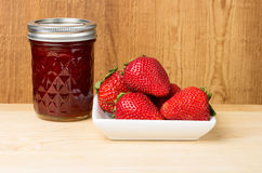 Strawberries and jam Royalty Free Stock Photos