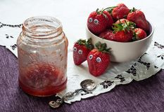 Alarming premonition of strawberries royalty free stock image