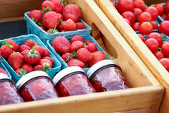 Strawberries and Jam Royalty Free Stock Image