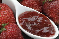Strawberries jam Royalty Free Stock Images