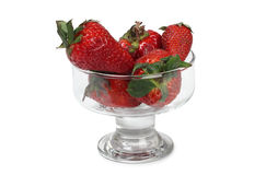 Strawberries juice in glass Stock Images