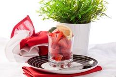 Strawberries with lemon Royalty Free Stock Photo