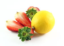 Strawberries and lemon Royalty Free Stock Photo