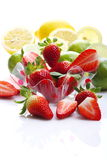 Strawberries, lemons and limes Royalty Free Stock Photos