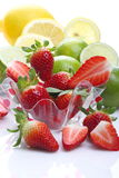 Strawberries, lemons and limes Stock Photo