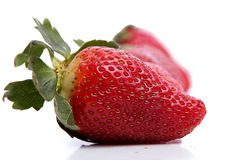 Strawberries in line Royalty Free Stock Photos