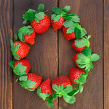 Strawberries line up Royalty Free Stock Image