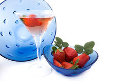 Strawberries Liqueur Royalty Free Stock Photography