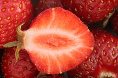 Strawberries macro Royalty Free Stock Images