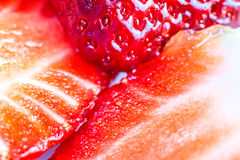 Strawberries macro photography. Royalty Free Stock Photos