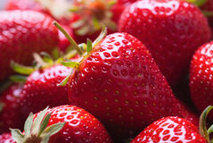 Strawberries. Many red ripe strawberries. food background Royalty Free Stock Photography
