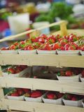 Strawberries market Stock Photos