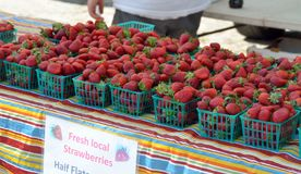 Strawberries at market Royalty Free Stock Image