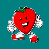 Strawberries mascot Royalty Free Stock Photo
