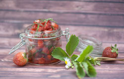 Strawberries mermalade Royalty Free Stock Photography