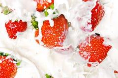 Strawberries & Milk Stock Image