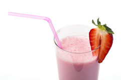 Strawberries milk shake Royalty Free Stock Images