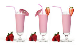 Strawberries milk shake Stock Image