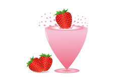 Strawberries and milkshake Royalty Free Stock Photos
